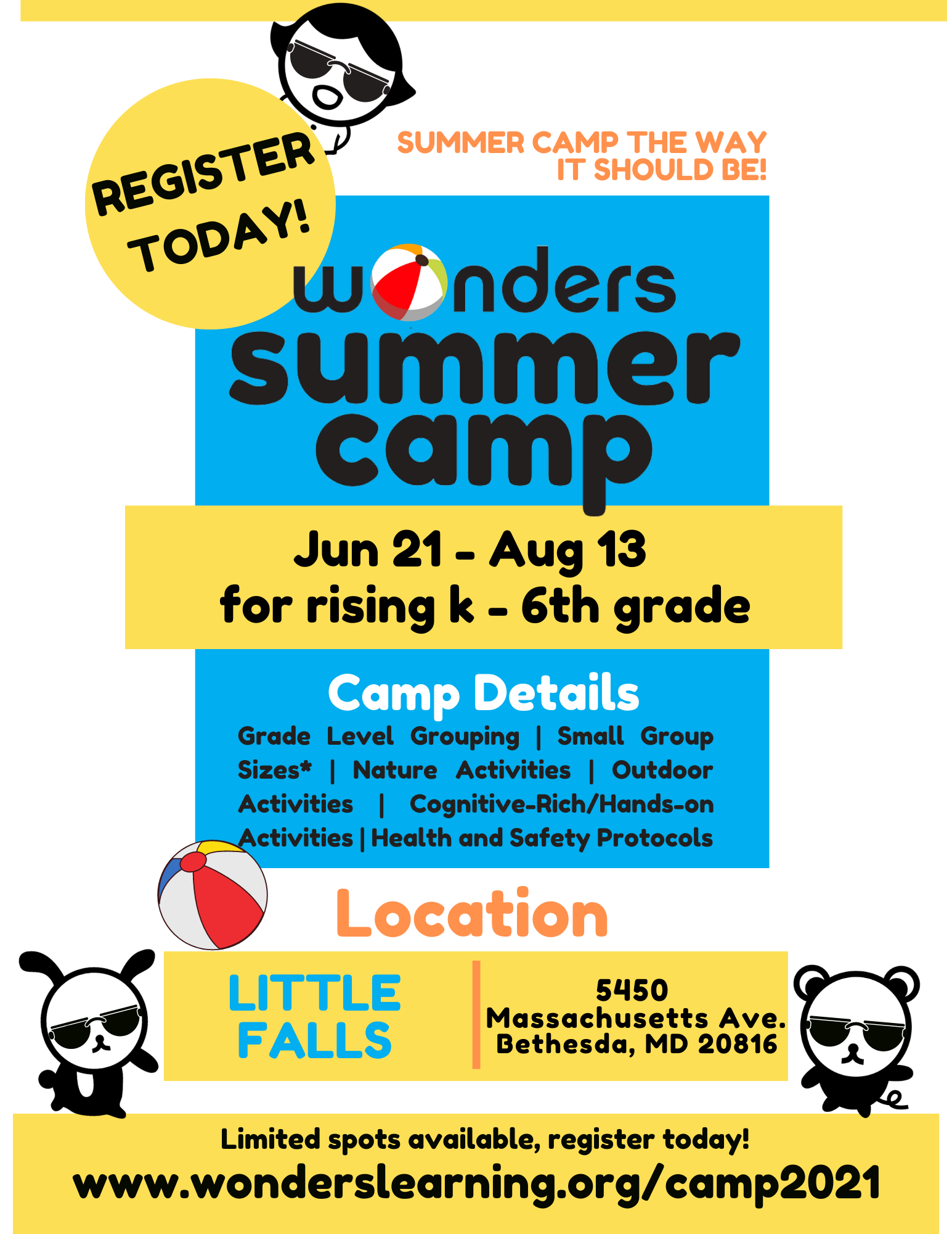 Summer Camp, June 21 - August 13th. Register today! Click here to learn more